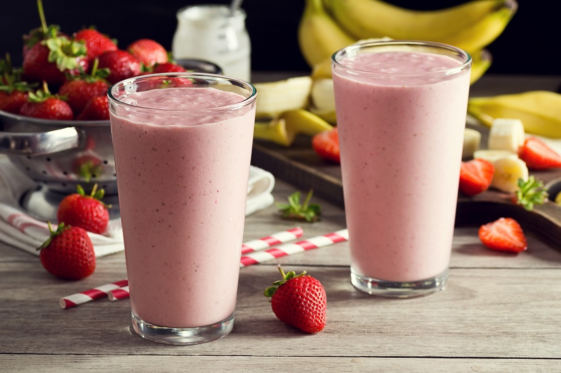 Banana & Strawberry Smoothie